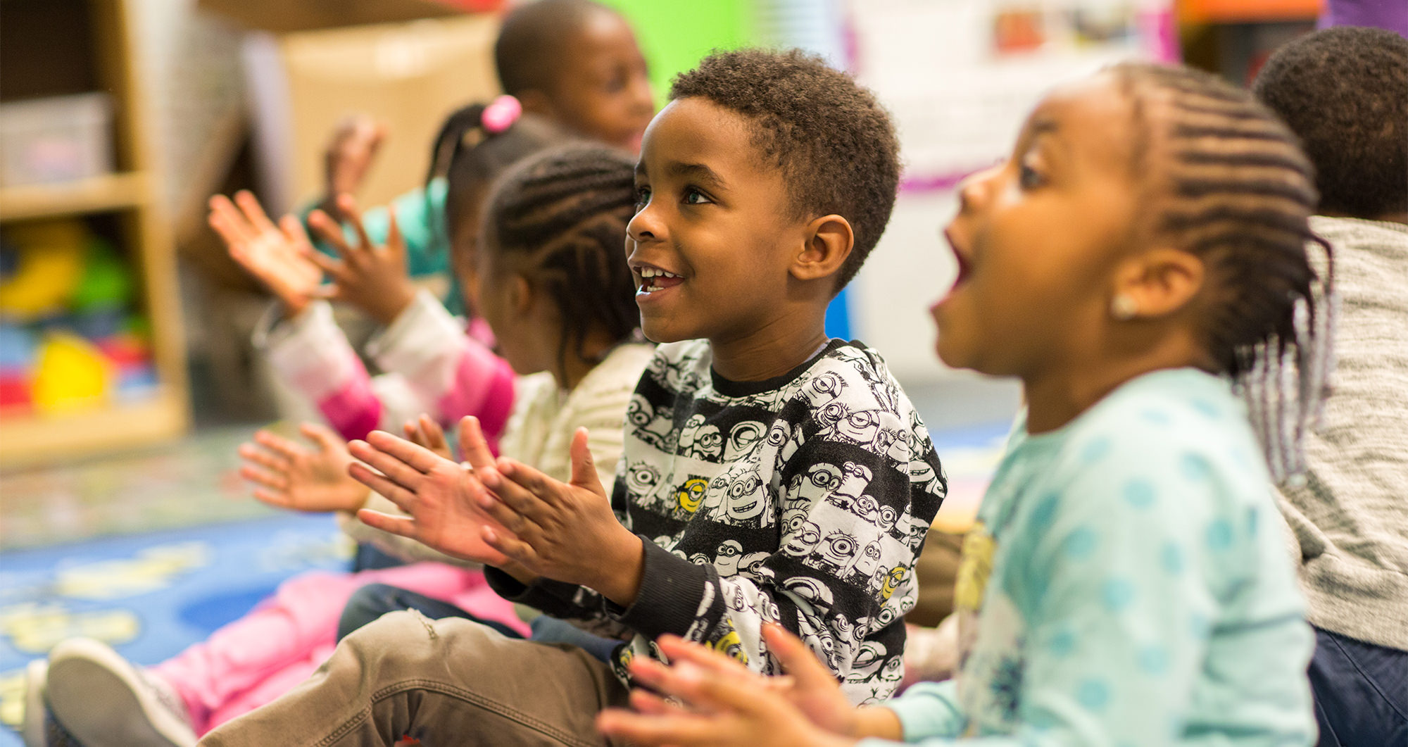 Children enjoying preschool