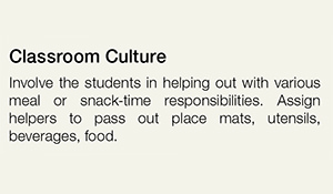 Classroom Culture Tip Example